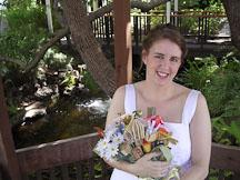 Kara Sjoblom with flower bookquet. - Photo #2152
