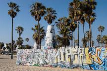 Graffiti wall and cone. Venice, California, USA. - Photo #7452