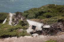 Rubble piles on Alcatraz Island. - Photo #22152