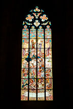 Stained glass in Saint Barabara's church. Kutna Hora, Czech Republic. - Photo #29852