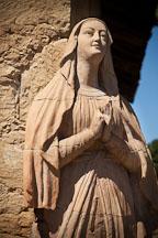 Statue of the Virgin Mary, Mission San Carlos Borromeo de Carmelo. - Photo #26852