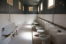 Toilets in the detention barracks. Angel Island Immigration Station. - Photo #22052