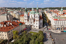 Aerial view of Saint Nicholas Church. Prague, Czech Republic. - Photo #30253