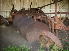 Disc harrow farm equipment. Pierce ranch, Point Reyes, California. - Photo #25653