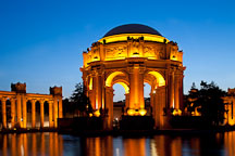 Evening at the Palace of Fine Arts. San Francisco, California. - Photo #28953