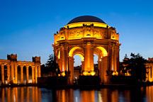 Evening at the Palace of Fine Arts. San Francisco, California. - Photo #28953