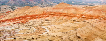 Panorama of the Painted Hills. John Day Fossil Beds, Oregon. - Photo #27653