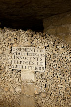 Bones deposited in the cemetery in 1809. Paris catacombs, France. - Photo #31553