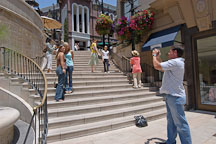 Tourists taking a photograph. Spanish steps at Two Rodeo drive, Beverly Hills, California, USA - Photo #7353