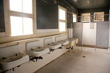 Bathroom sinks in the detection barracks. Angel Island, California. - Photo #22054