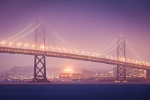 Bay bridge connecting San Francisco and Oakland. - Photo #32054