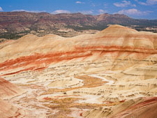Painted hills in the afternoon. John Day Fossil Beds, Oregon. - Photo #27854