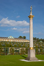 Pillar in the south facing garden at Sanssouci. Potsdam, Germany. - Photo #30454