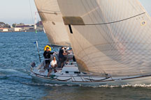 Close-up of sailboat crew in the San Diego Bay. San Diego, California. - Photo #26454