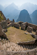 Stairs leading to northeast side of Machu Picchu, Peru. - Photo #10054