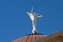 Winged Victory, statue on top of the Arizona State Capitol building. Modeled after the Greek statue Nike of Samothrace. Phoenix, Arizona, USA. - Photo #5454