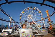 Amusement park rides at Santa Monica Pier. Santa Monica, California, USA. - Photo #8255