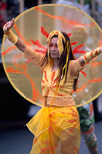 Asian woman in Carnaval's grand parade. San Francisco. - Photo #1155