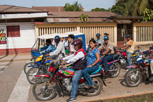 Motorcycle taxi service. Puerto Maldonado, Peru. - Photo #9055