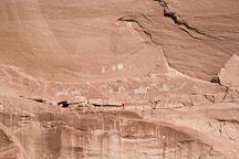 Navajo pictograph of Spanish Conquistadors. Canyon de Chelly NM, rizona. - Photo #18155