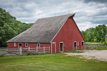 Red barn. Living history farms, Iowa. - Photo #32955