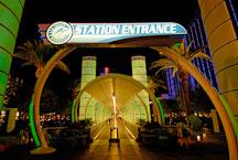 Station entrance for the Las Vegas monorail. Las Vegas, Nevada, USA - Photo #13355
