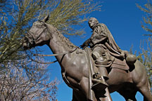 Statue of Father Eusebio Francisco Kino (1644-1711). Phoenix, Arizona, USA. - Photo #5455