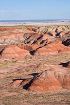 Painted Desert in late afternoon light. Petrified Forest NP, Arizona. - Photo #18056