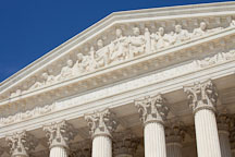 Pediment of the Supreme Court building. Washington, D.C. - Photo #29156