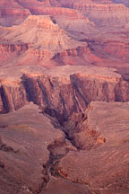 Canyon detail. Grand Canyon NP, Arizona. - Photo #17357