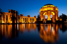 Night at the Palace of Fine Arts. San Francisco, California. - Photo #28957