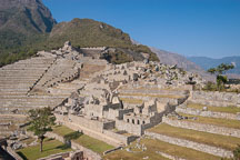 Terraces and vistors' houses. Machu Picchu. - Photo #10057
