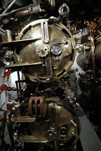 Torpedo room. USS COD SS-224 World War II Fleet Submarine. Cleveland, Ohio, USA. - Photo #4157