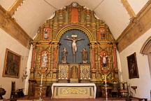 Inside Carmel Mission Basilica. Carmel, California. - Photo #26858