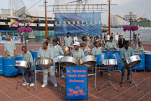 Steel orchestra, Baltimore, Maryland, USA. - Photo #3958