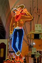 Vegas Vic cowboy sign. Fremont Street, Las Vegas, Nevada, USA. - Photo #13758