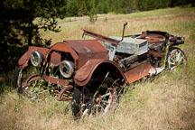 Old Reo abandoned car. Granite, Oregon. - Photo #27759