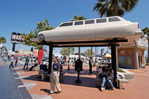 Bus stop made from a limousine. Hollywood, California, USA. - Photo #6459
