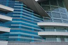 Close-up of the Hong Kong Convention and Exhibition Centre. Hong Kong, China. - Photo #14559