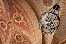 Lamp at Royce Hall. University of California, Los Angeles, California, USA. - Photo #6359