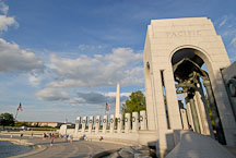 Pacific arch at the World War II Memorial. Washington, D.C., USA. - Photo #12759