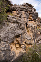 Rock face of the sinkhole at Montezuma Well, Arizona. - Photo #17759