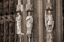 Statues on the Western Facade of the Cologne Cathedral. Cologne, Germany. - Photo #30659