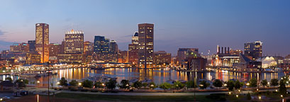 Panorama of the Inner Harbor. Baltimore, Maryland, USA. - Photo #4018