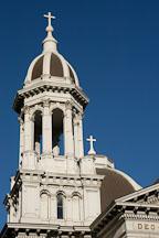 Bell tower cupola. Cathedral Basilica of St. Joseph. San Jose, California, USA. - Photo #4844