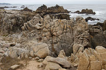 Rocky shoreline. 17-Mile drive, California, USA. - Photo #4781