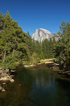 Half Dome and Merced river. Yosemite National Park, California, USA. - Photo #4657