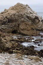 Rocky shoreline. 17-Mile drive, California, USA. - Photo #4774