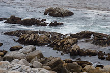 Rocky shoreline, 17-Mile drive, California, USA. - Photo #4819