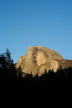 The sun sets on Half Dome. Yosemite National Park, California, USA. - Photo #4758